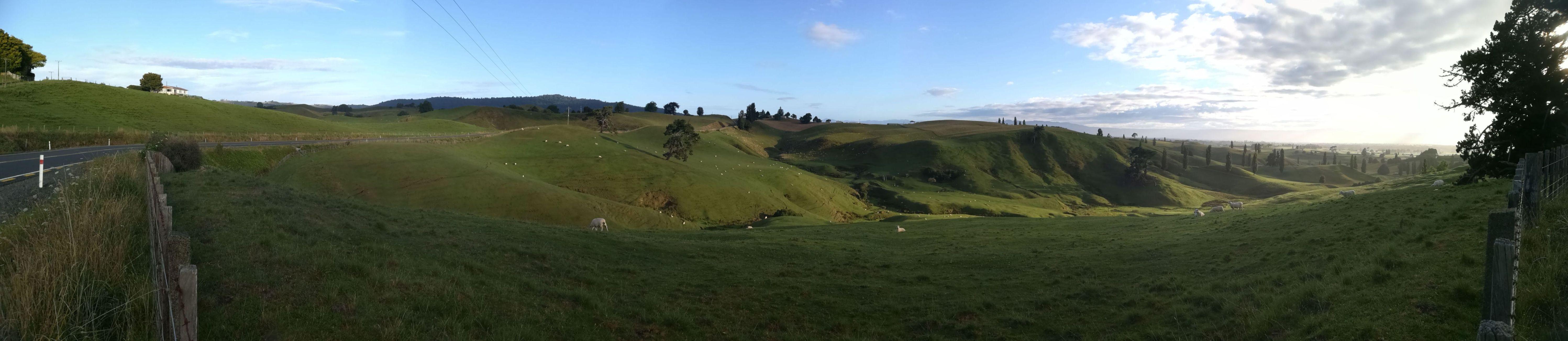 Novozélandské Grófstvo - pred vstupom do Hobbitonu