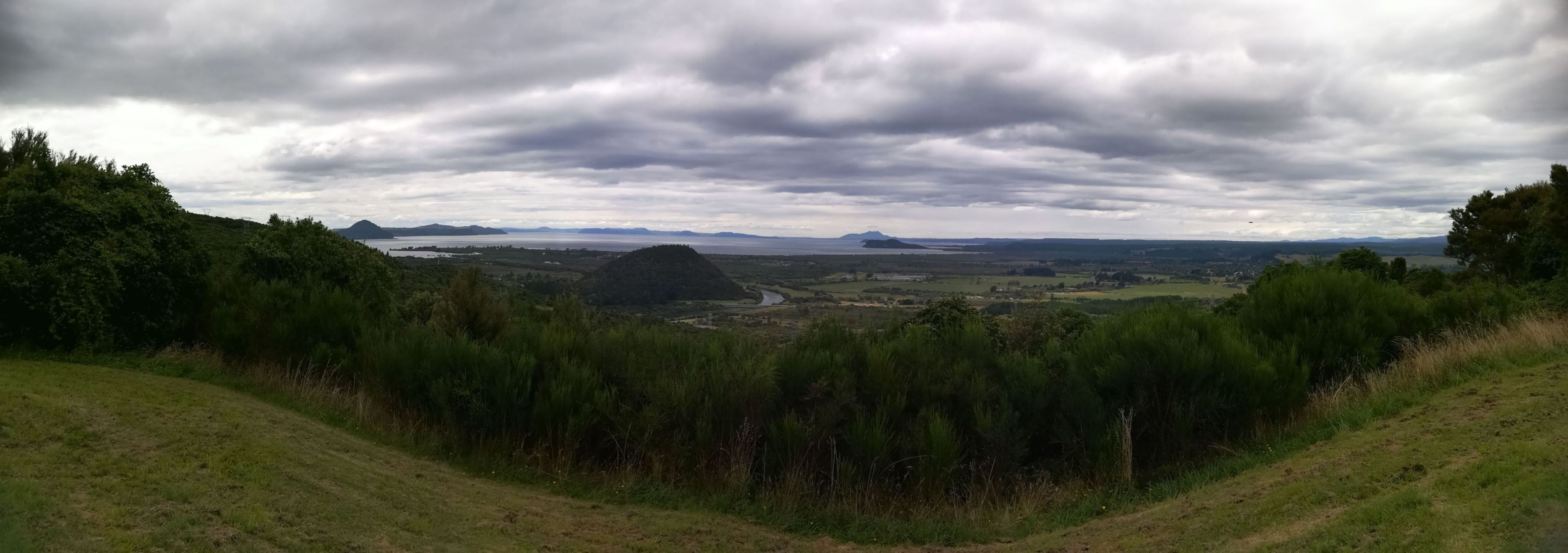 Pohľad na jazero Taupo